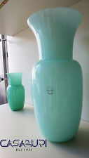 Nason Vaso Verde in Vetro di Murano H 33 cm