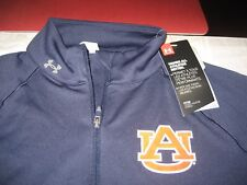 WOMENS UNDER ARMOUR AUBURN TIGERS 1/4 ZIP TOP SIZE L LARGE BLUE  NWT