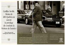 1992 CADILLAC Seville Vintage Original 2 page Print AD car street photo Canada