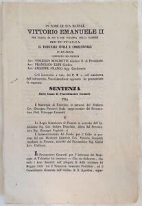 SENTENZA SANTUARIO DI SAN NICOLA DI TOLENTINO GIUSEPPE PASCUCCI TRANCHINI 1871