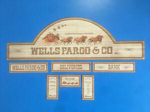 Playmobil Western * Wells Fargo & Co *autocollant - Sticker Maison Western