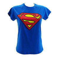 T-Shirt Superman Blu Royal Donna