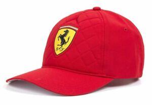 Genuine Ferrari Scuderia F1 Cap In Red Quilted
