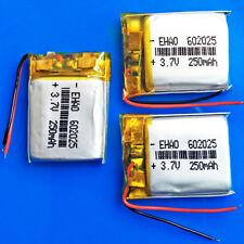 3 x 3.7V 250mAh Li Po Rechargeable Battery For Bluetooth MP3 MP4 Headset 602025