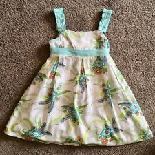 ORIGAMI Floral Party Dress With Petticoat Sz 4 (Twins)