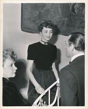 JENNIFER JONES BASIL RATHBONE Original CANDID Hollywood Party Vintage 1944 Photo