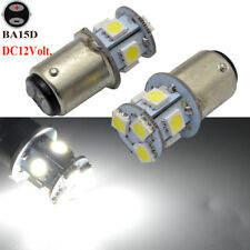 2pcs 12V BA15D 8 SMD 180LM 6000K WHITE LED GLOBE CARAVAN BOAT RV LED LIGHT BULBS