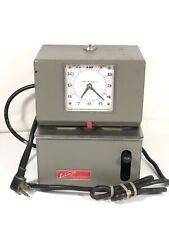 Lathem Time Corporation Vintage Time Clock Recorder Model 2121 No Key Made Usa