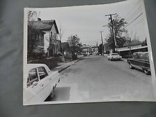 Vintage B&W Victoria B.C. Newspaper Photo Avalon Colonial Inn James Bay Old Cars