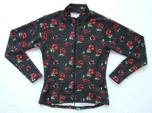 Women's Bike Jersey Jacket textured wicking knit Floral Travel Jersey NWOT XS