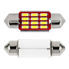 39mm Canbus LED SUPER  WHITE Interior Festoon Light Bulb Error Free 38mm