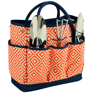 Picnic at Ascot Fully Lined Multi-Pocket Gardening Tote with 3 Tools (341)
