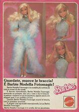 X1071 BARBIE - Modella Fotomagic! - Mattel - Pubblicità 1988 - Advertising