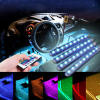 4PCS LED RGB Lamp Home Room Atmosphere Neon Strip Light Remote Control Under