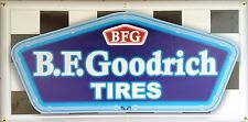 BF GOODRICH TIRES DEALER GAS STATION NEON EFFECT PRINT BANNER GARAGE ART SIGN