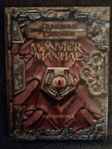D&D Monster Manual Core Rulebook 3 (First Printing Oct 2000) VGC