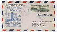 1946 Newfoundland first flight Pan Am to Prague Czech [y2995]