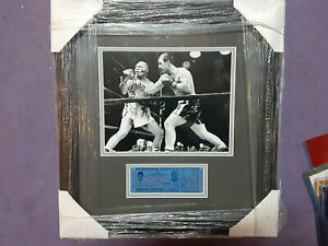 Rocky Marciano & Jersey Joe Walcott original framed May 53, ticket second fight
