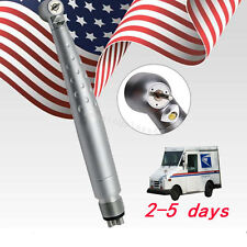 Denshine Dental High Speed Fiber Optic LED Handpiece Push&3 Spray 4 Hole new