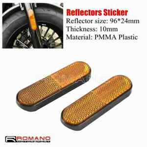 2pcs Front Fork Leg Reflector Reflective Sticker For Motorcycle Car ATV DirtBike