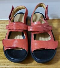 Clarks Artisan Unstructured Red Sandals 6.5 Women's