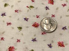 Fabric Flowers & Vines Hummingbird Coordinate on Cream 1 Yard