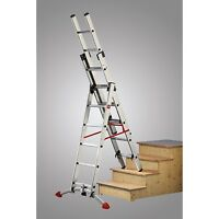 Hailo Trade Combi Ladders with Adjustable Stabiliser | Garden Step Ladder |Steps