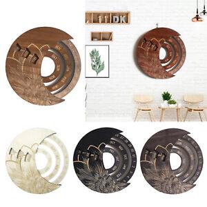Decorative Circle Calendar Wooden Everlasting Perpetual Wall Hanging Crafts
