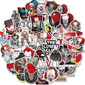 50PCS Stephen Kings it Pennywise Joker Sticker DIY Laptop Luggage Skateboard