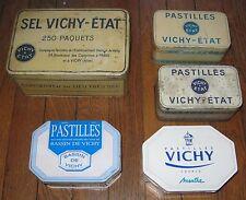 LOT BOITES METAL VICHY DONT ANCIENNES TOLE LITHOGRAPHIEE PASTILLES LARDY