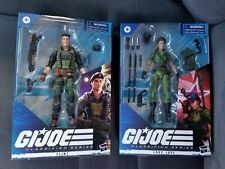 "Gi Joe 6"" inch Classified Series Wave 4 Lady Jaye and Flint NEW IN HAND LOT #1"