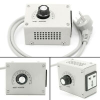 New AC 220V 4000W Variable Temperature Dimmer Voltage Speed Controller Fan Motor