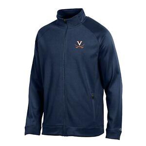 """Virginia Cavaliers NCAA Champion Men's """"Achievement"""" Navy Perf. Full Zip Jacket"""