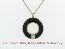Circle Of Life Round Pendant Cremation Jewelry Keepsake Urn w/ Chain, Funnel