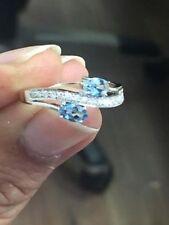 NUOVA collezione...!!! Acquamarina E Diamante Designer Anello realizzato in oro bianco.