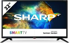 "TELEVISORE SMART TV 32"" SHARP 32BC3E Aquos HARMAN KARDON HDMI DVB-T2/S2 Nero"