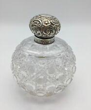 Silver Top Scent Bottle Chester Hallmark 1887