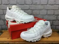 NIKE LADIES UK 6 EU 40 WHITE AIR MAX 95 OG PATENT LEATHER TRAINERS RRP £120