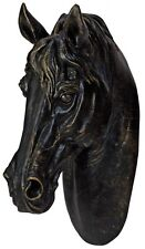 LARGE Bronzed Handsome Horse Horses Head Wall Art Sculpture Vintage Retro NEW