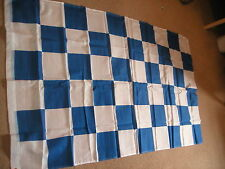 BLUE & WHITE CHECK CHEQUERED FLAG 3'X2' (EYELETS)