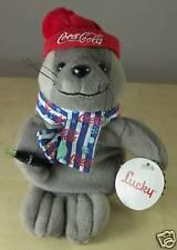 Coca Cola Coke Lucky the Seal Plush Bean Bag Stuffed Animal 0210 1999 with TAG