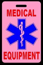 Pink Medical Equipment Carry-On Bag Tag - CPAP BiPAP APNEA POC