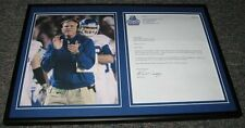 Coach Bill Curry Signed Framed Letter & Photo Display Georgia State