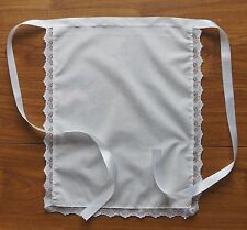 "APRON 16""X13"" VICTORIAN FRENCH MAIDS COSTUME WAITRESS LACE TRIMMED"
