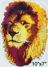 """Large Lion Head Motorcycle Biker Embroidered Patch 10""""x7"""""""