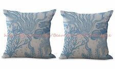 US SELLER-2pcs decorative pillows for couch beach coast seashore cushion cover