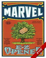 VINTAGE BROWN PAPER BAG ADVERTISEMENT MARVEL CO AD POSTER ART REAL CANVAS PRINT