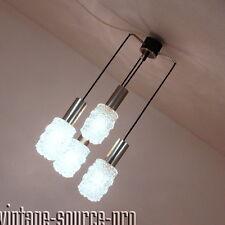 4 quemadores bankamp 421 eisglas cromo kaskadenlampe péndulo lámpara de techo 60er años