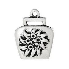 1 PCs Charm Pendants Handbag Antique Silver Flower Pattern Carved 24x19mm LC4602