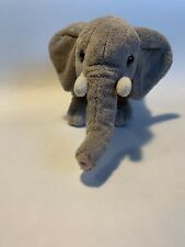 "FAO Schwarz Gray Elephant Plush 7"" Soft Toy Small Stuffed Animal"